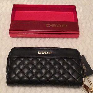 Bebe marylyn black wallet